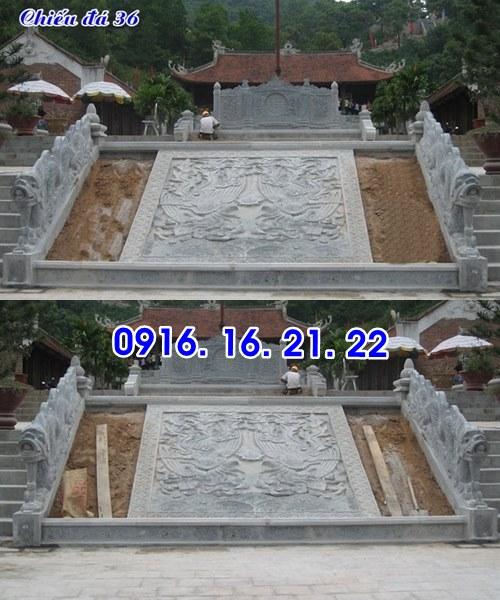 Mẫu chiếu đá chiếu rồng đá bậc thềm nhà thờ đình chùa đẹp nhất trước cửa 36