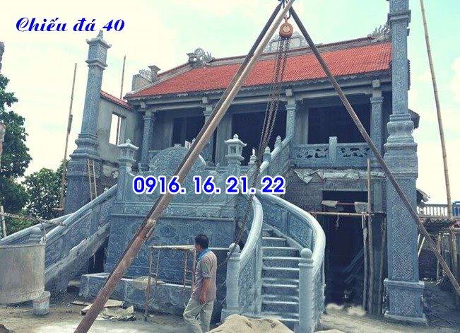 Mẫu chiếu đá chiếu rồng đá bậc thềm nhà thờ đình chùa đẹp nhất trước cửa 40
