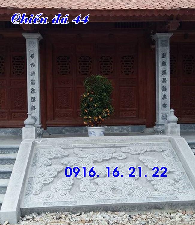Mẫu chiếu đá chiếu rồng đá bậc thềm nhà thờ đình chùa đẹp nhất trước cửa 44