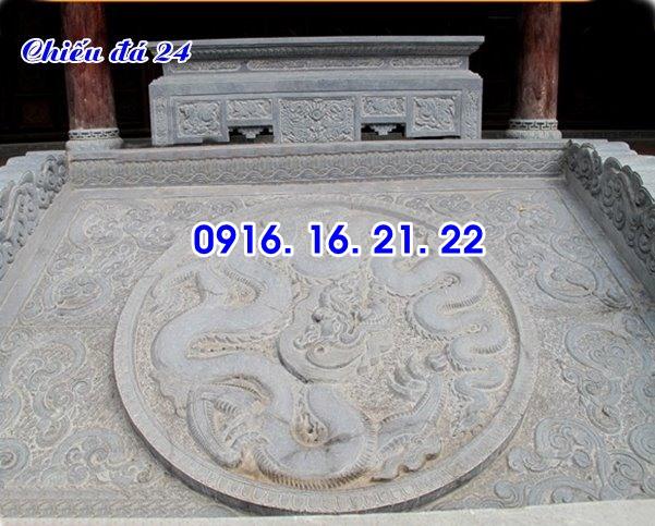 Mẫu chiếu rồng đá chiếu đá bậc thềm trước cửa nhà thờ đình chùa đẹp nhất 24