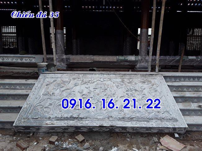 Mẫu chiếu rồng đá chiếu đá đẹp trước cửa nhà thờ đình chùa