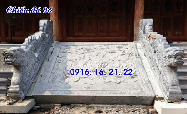 Mẫu chiếu rồng đá đẹp nhà thờ họ thiết kế đơn giản 06