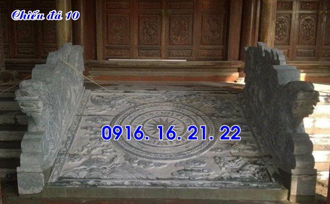 Mẫu chiếu rồng đá đẹp nhà thờ họ thiết kế đơn giản 10