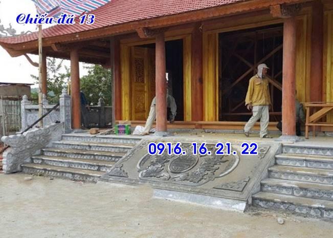Mẫu chiếu rồng đá đẹp nhà thờ họ thiết kế đơn giản 13