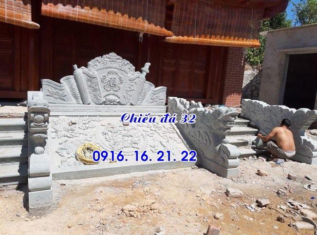 Mẫu chiếu rồng đá nhà thờ họ từ đường đình chùa đẹp 32