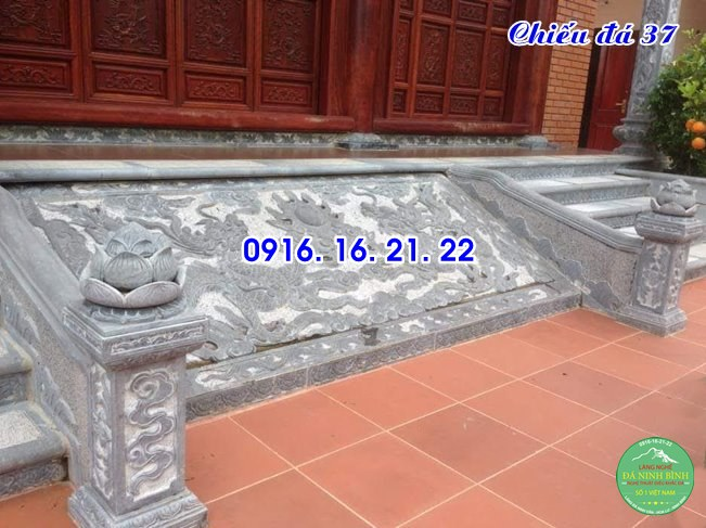 Mẫu chiếu rồng đá nhà thờ họ từ đường đình chùa đẹp 37