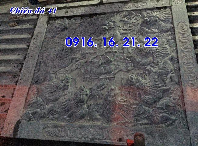 Mẫu chiếu rồng đá nhà thờ họ từ đường đình chùa đẹp 41