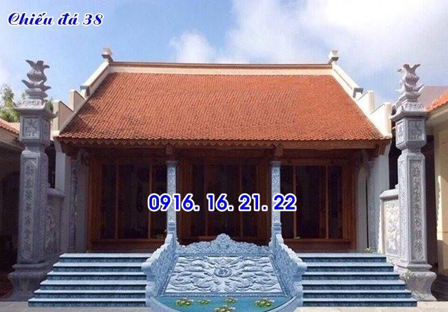 Mẫu chiếu rồng đẹp bằng đá trước cửa nhà thờ họ từ đường đình chùa 38