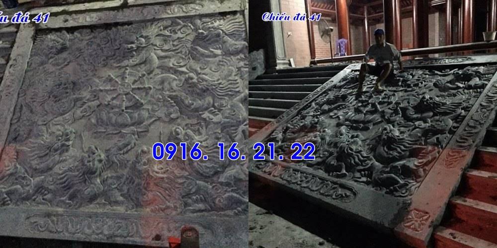 Mẫu chiếu rồng đẹp bằng đá trước cửa nhà thờ họ từ đường đình chùa 41