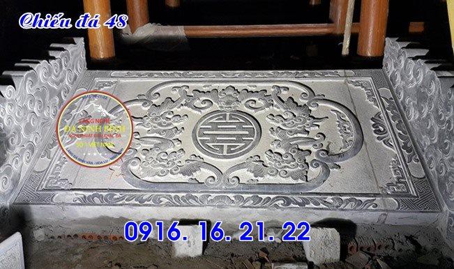Mẫu chiếu rồng đẹp bằng đá trước cửa nhà thờ họ từ đường đình chùa 42