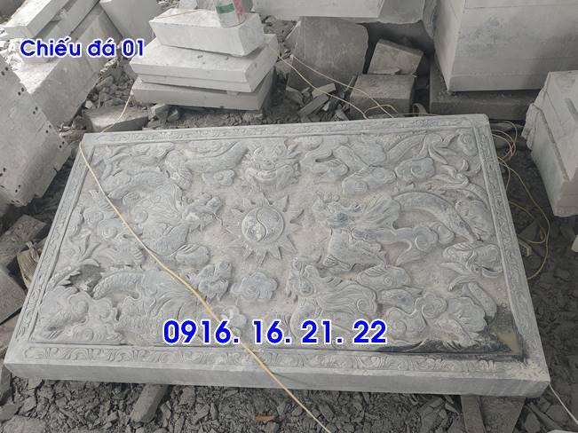 Mẫu chiếu rồng nhà thờ họ từ đường đình chùa đẹp bằng đá 01
