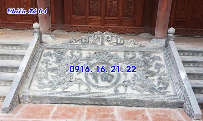 Mẫu chiếu rồng nhà thờ họ từ đường đình chùa đẹp bằng đá 04