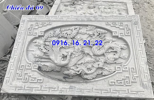 Mẫu chiếu rồng nhà thờ họ từ đường đình chùa đẹp bằng đá 09