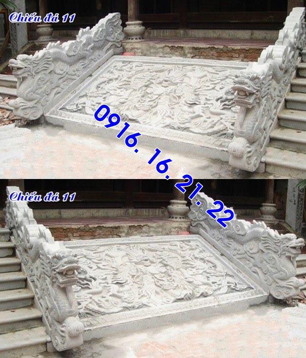 Mẫu chiếu rồng nhà thờ họ từ đường đình chùa đẹp bằng đá 11