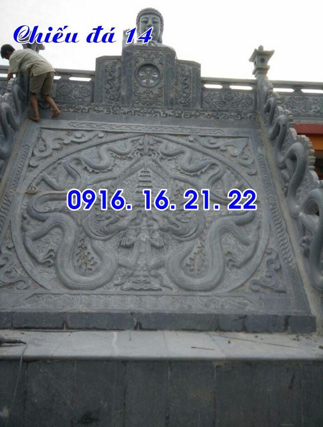 Mẫu chiếu rồng nhà thờ họ từ đường đình chùa đẹp bằng đá 14
