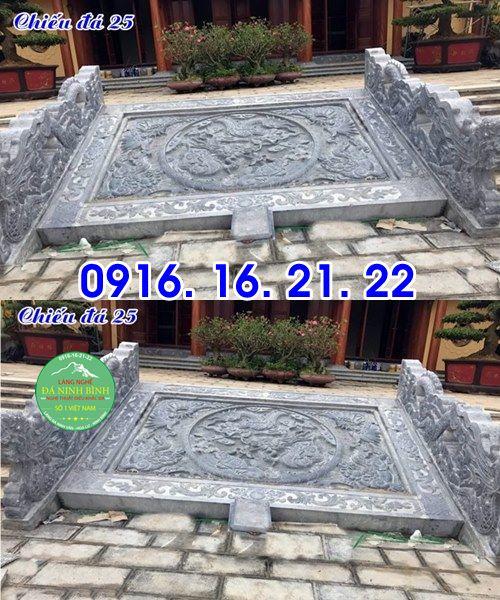 Mẫu chiếu rồng nhà thờ họ từ đường đình chùa đẹp bằng đá 25