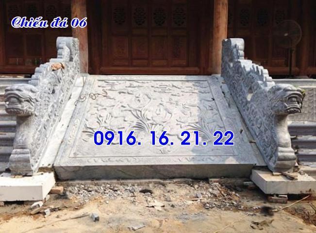 thiết kế chiếu rồng đá nhà thờ họ đình chùa đơn giản 06