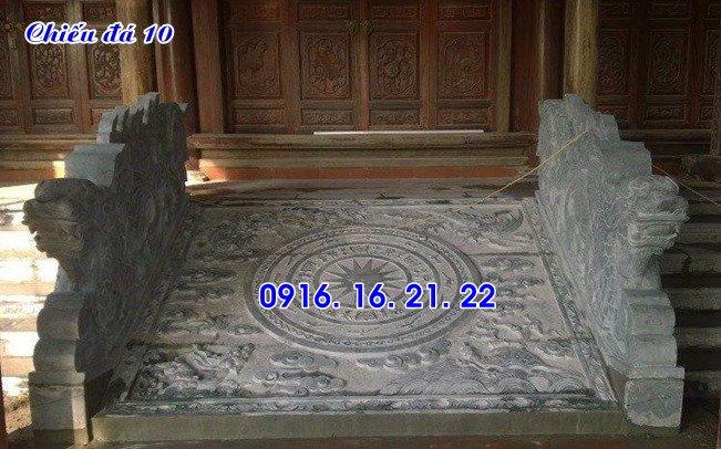 thiết kế chiếu rồng đá nhà thờ họ đình chùa đơn giản 10