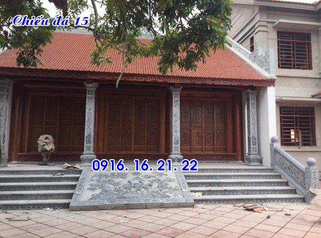 thiết kế chiếu rồng đá nhà thờ họ đình chùa đơn giản 15