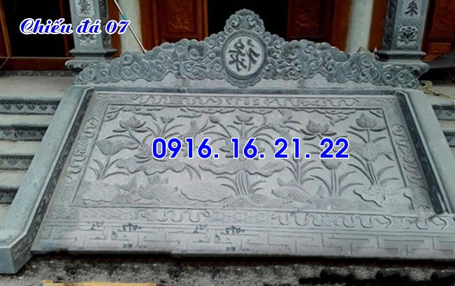 Thiết kế lắp đặt bán chiếu rồng đá chiếu đá nhà thờ họ đẹp giá rẻ 07