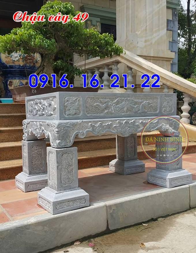 33 mẫu ang chậu bể đá hình chữ nhật bằng đá tự nhiên nguyên khối 49