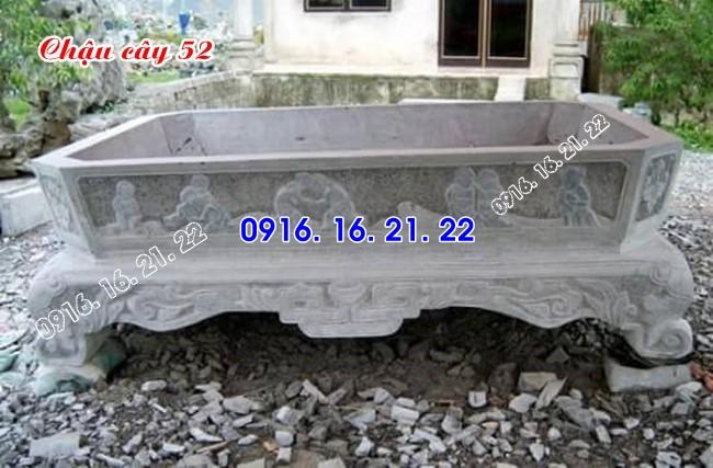 33 mẫu ang chậu bể đá hình chữ nhật bằng đá tự nhiên nguyên khối 52