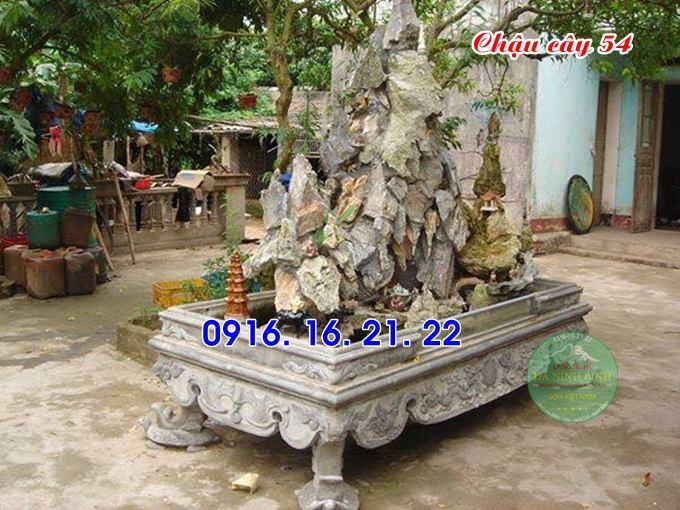 33 mẫu ang chậu bể đá hình chữ nhật đẹp bằng đá tự nhiên nguyên khối 54