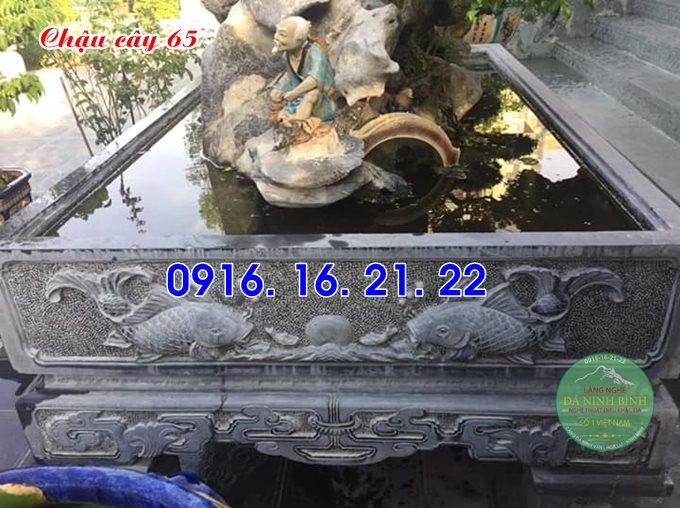 33 mẫu ang chậu bể đá hình chữ nhật đẹp bằng đá tự nhiên nguyên khối 65