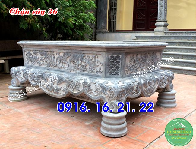 33 mẫu chậu bể đá hình chữ nhật đẹp bằng đá nguyên khối 36