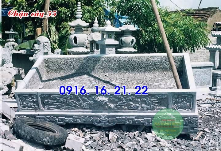 33 mẫu chậu bể đá hình chữ nhật đẹp bằng đá tự nhiên nguyên khối 55
