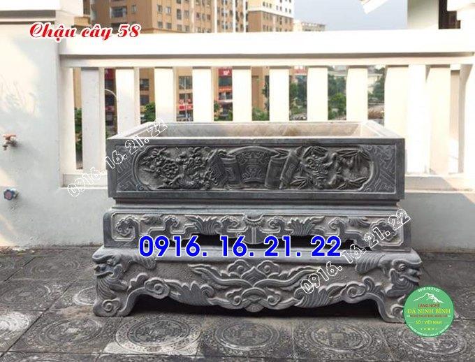 33 mẫu chậu bể đá hình chữ nhật đẹp bằng đá tự nhiên nguyên khối 58