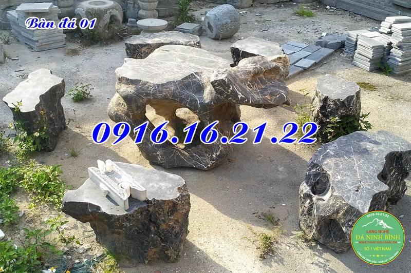 Bàn ghế đá 01
