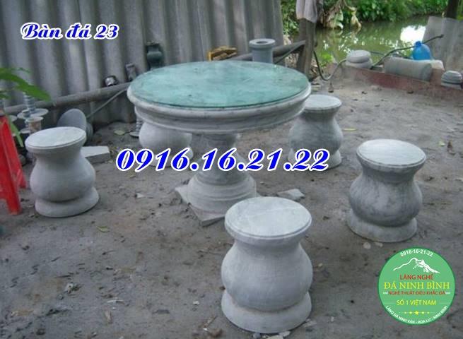 Bàn ghế đá tròn 23