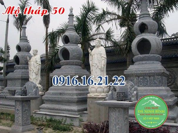 Bảo tháp mộ sư bằng đá
