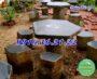 Bộ bàn ghế đá giá rẻ nguyên khối ngoài trời tại Bình Phước
