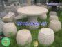 Bộ bàn ghế đá tròn 19