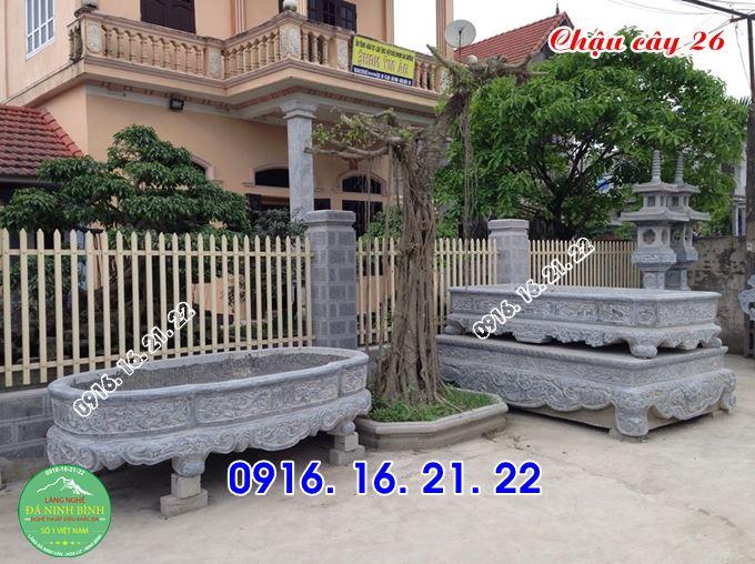 Chậu đá cây cảnh chậu đá trồng bonsai bằng đá tự nhiên 26