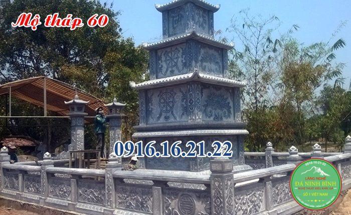 Mẫu mộ đá hình tháp 60