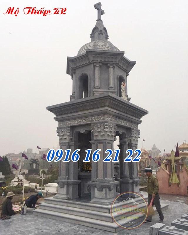Mẫu mộ tháp công giáo đẹp