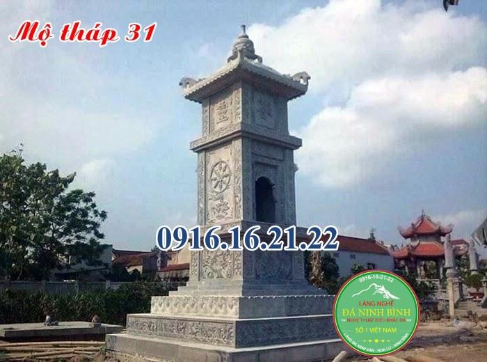 Mẫu mộ tháp đá 31