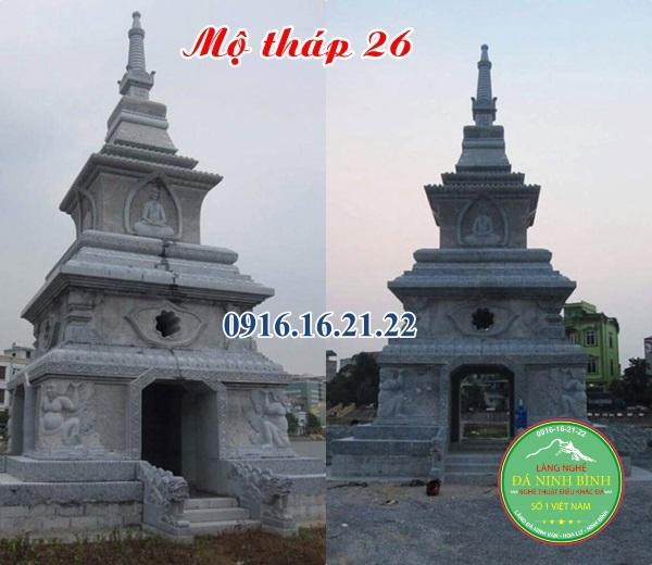 Mẫu mộ tháp đá bằng đá đẹp
