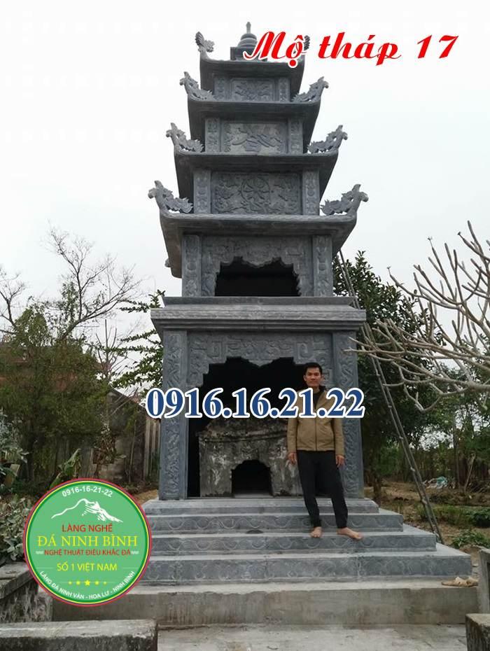 Mẫu mộ tháp đá hình tháp bằng đá đẹp năm 2021