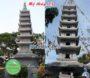 Mẫu mộ tháp đá mộ đá hình tháp bằng đá nguyên khối