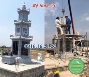 Mộ tháp phật giáo bằng đá đẹp 64