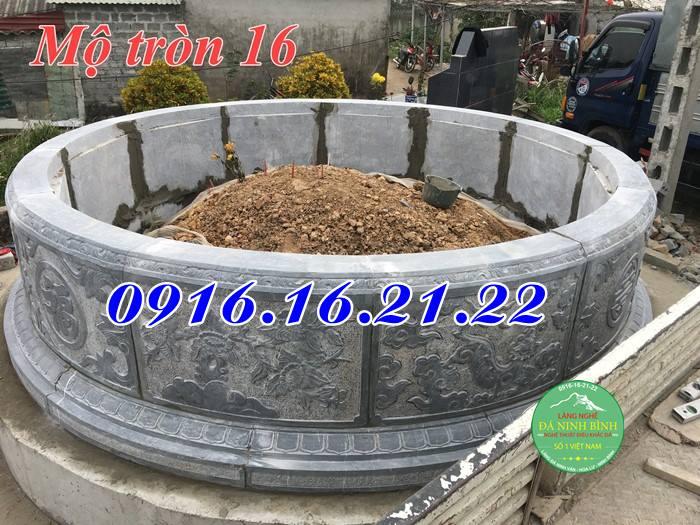 Lắp đặt khu lăng mộ đá tròn đẹp tại mỹ đức hà tây