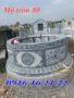 Mẫu lăng mộ tròn 80
