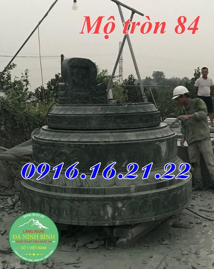 Mẫu mộ đá tròn đẹp 84