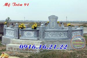 Mẫu mộ tròn phong thuỷ bằng đá 91