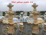 Đài phun nước đẹp bằng đá vàng 14