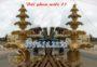Mẫu đài phun nước năm tầng bằng đá vàng 23